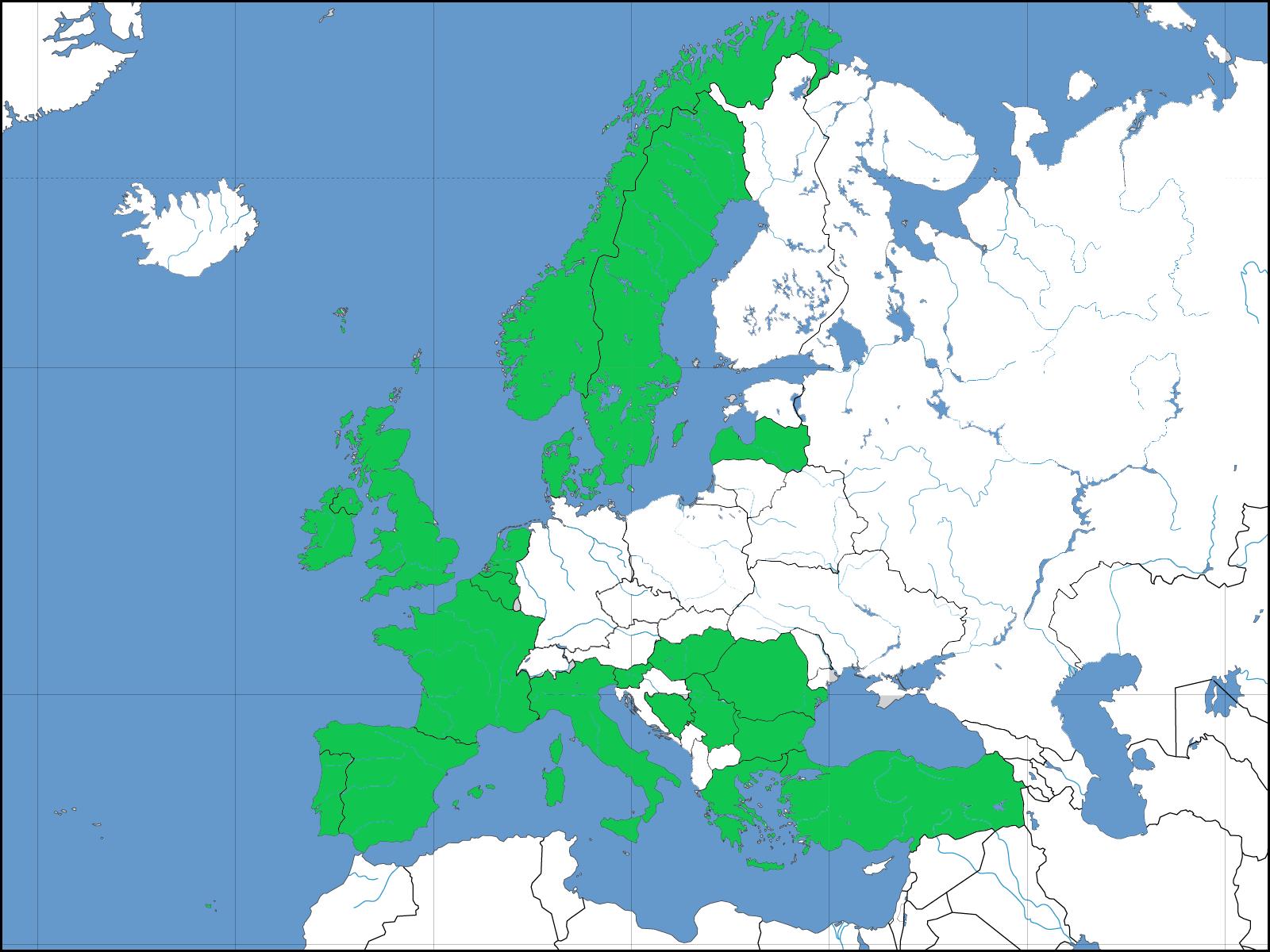 MapaEuropaPaisesParticipantes