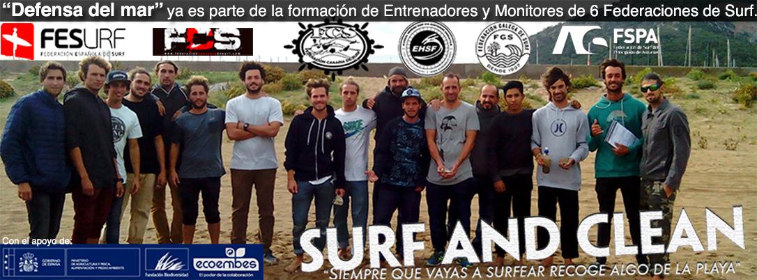 defensa del mar ya es parte de la formación para monitores de surf de 6 federaciones de surf